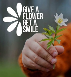 Give A Flower, Get A Smile Badge